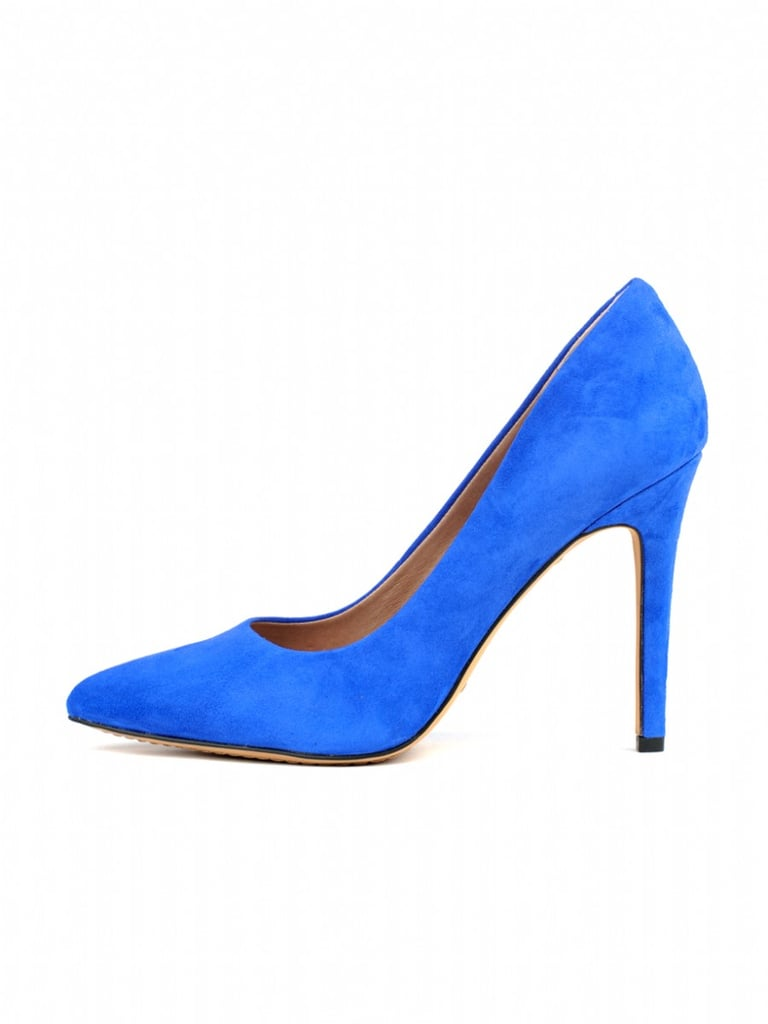 Cobalt blue to pair with your classic stripes and black pants for a fresh spin on the classics.  Vince Camuto Kain Pump ($89)