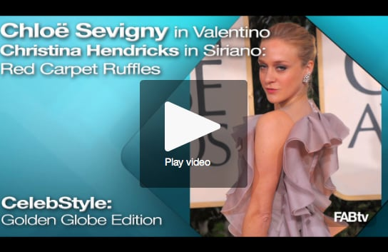 FabTV: Golden Globe Red Carpet Ruffles!