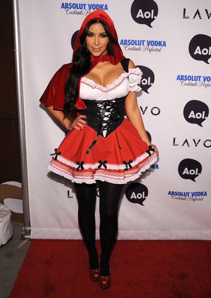 Kim Kardashian as Little Red Riding Hood