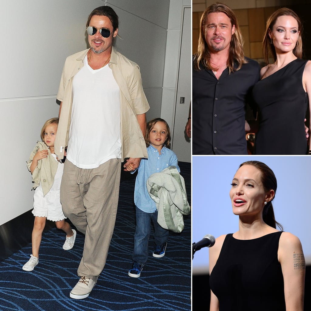 angelina jolie brad pitt and the kids in tokyo photos