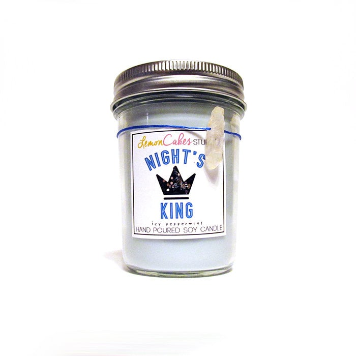 Night's King candle ($12) with fresh peppermint leaf, sweet ripened strawberry, and vanilla notes