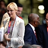 Princess Charlene attended the opening ceremony with Prince Albert II.
