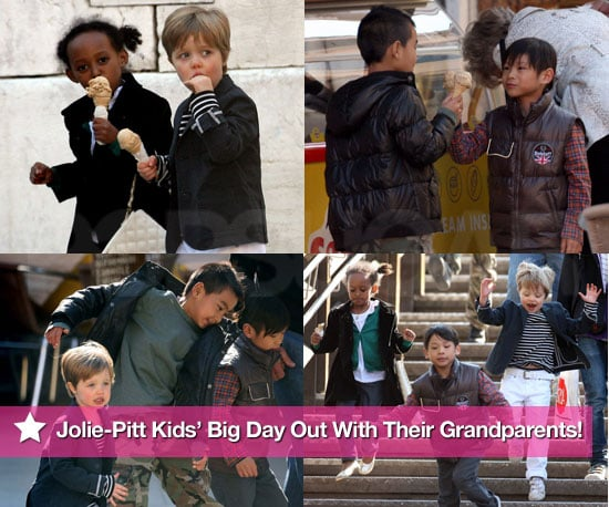 Pictures of Jolie-Pitt Kids Out With Their Grandparents!