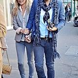 Kate Moss Celebrates Her Birthday in Paris