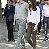 And Even Took These Olive Zara Pants With Her to India