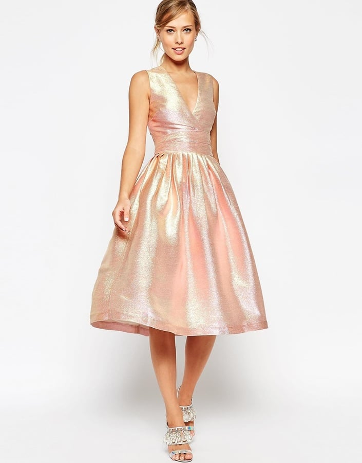 4213f69ff03 ASOS Salon Holographic Shimmer Midi Prom Dress ( 171)