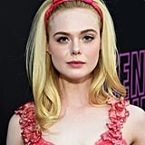 Elle Fanning Pink Rodarte Dress at Teen Spirit Premiere
