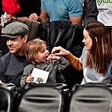 Olivia Wilde and Her Family at Brooklyn Nets Game Dec. 2016