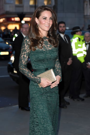 Kate Middleton's Green Temperley Gown Portrait Gala 2017