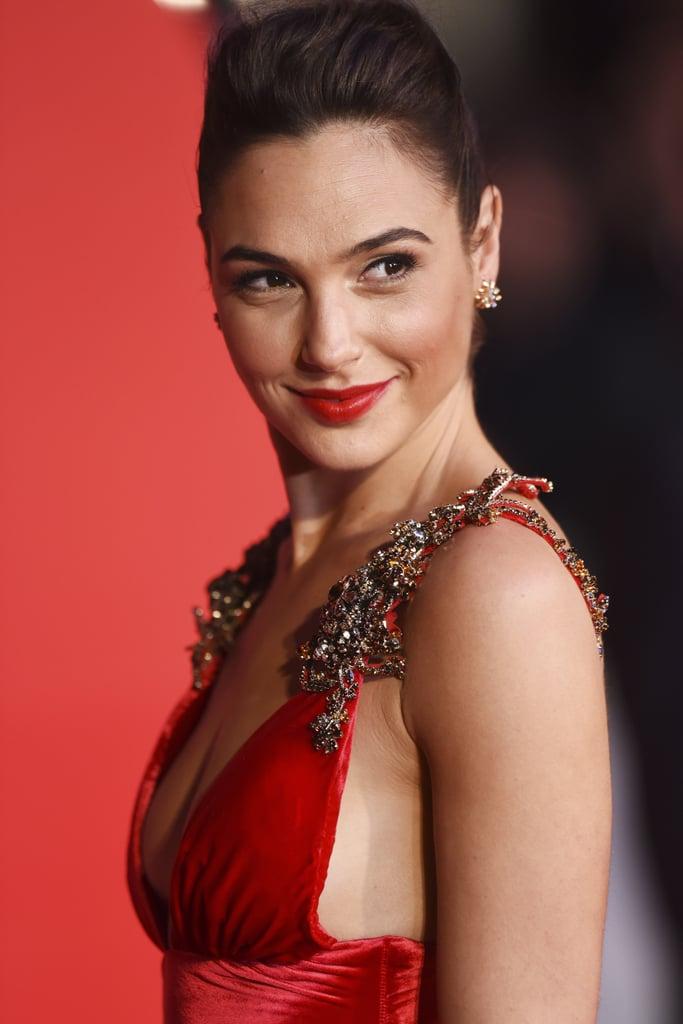 Gal Gadot's Dress at Batman v Superman European Premiere