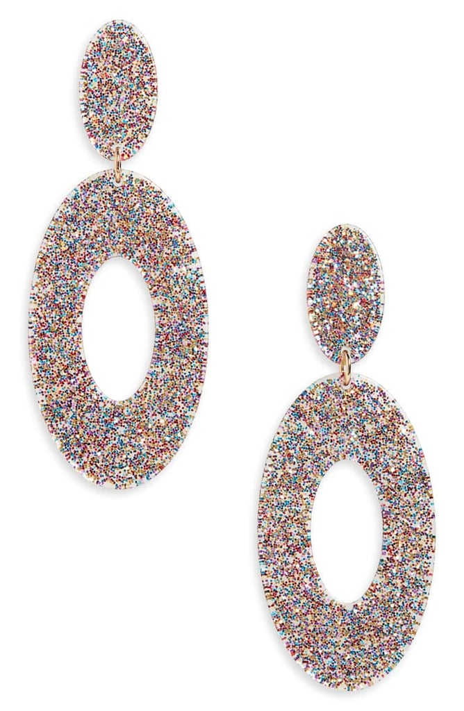 BP. Sparkle Resin Drop Earrings
