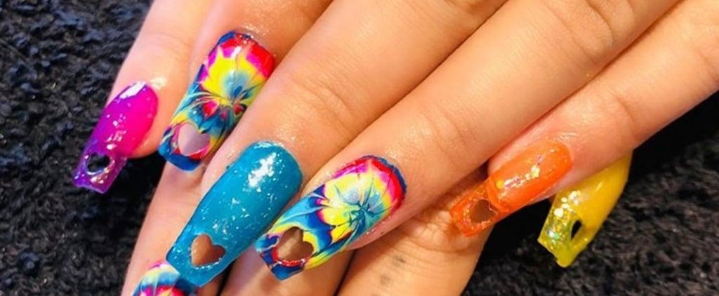 Rita Ora Hole Punch Nails
