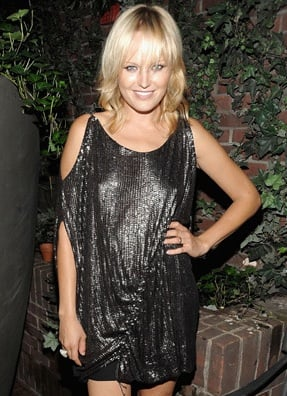 Photo of Malin Akerman Wearing Elise Overland Sequin Dress at Vodka Party in NYC