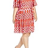Eloquii Flutter-Sleeve Side Pleat Dress