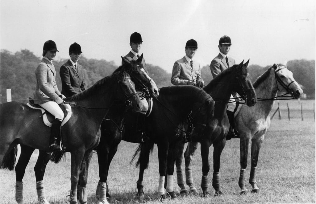 Princess Anne (second from left) with the 1976 Olympic Equestrian Team