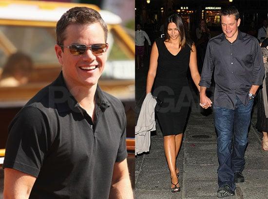 Photos of Matt Damon at Venice Film Festival