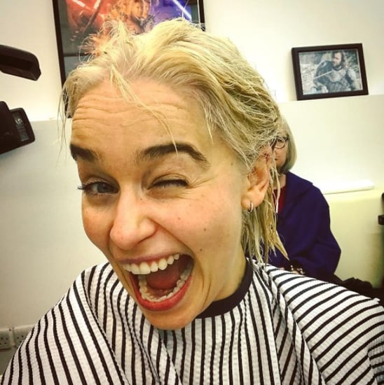 Emilia Clarke Dyes Her Hair Platinum Blond 2017