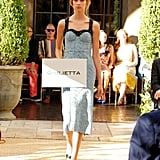 A model showed off a pretty eyelet confection by Giulietta.