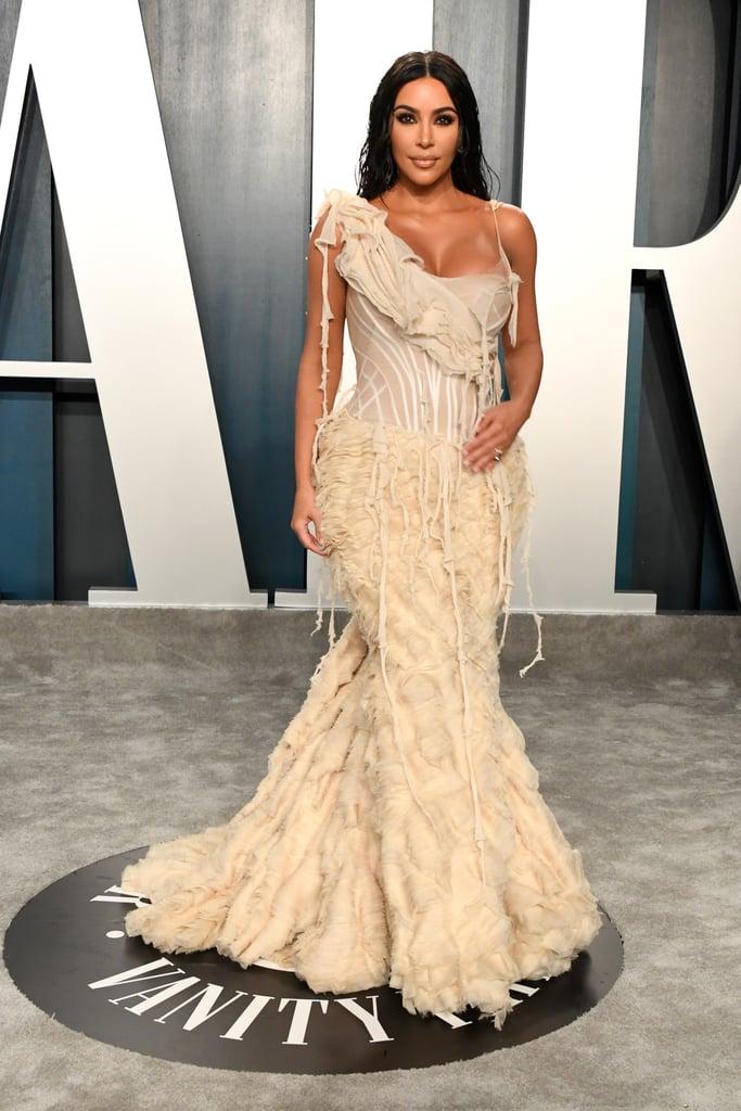 Kim Kardashian Kylie Jenner at Vanity Fair Oscars Party 2020