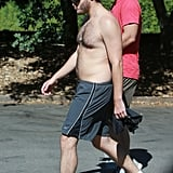 Emile Hirsch Shirtless on a Hike | Pictures