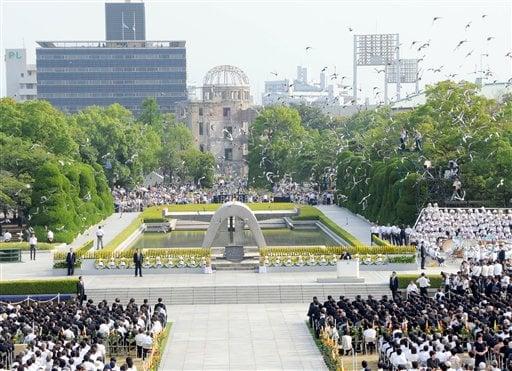 Hiroshima Mayor Asks US To Back Nuclear Ban On 63rd Anniversary of Atomic Bomb