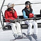 Pippa Middleton and her mother, Carole Middleton, rode the lift together on a ski vacation in France.