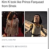 Kim Kardashian might have taken a dash of inspiration from Shrek.