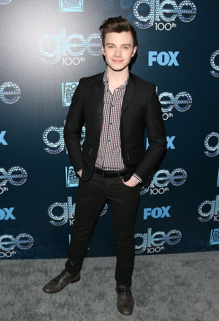 Chris Colfer struck a pose.