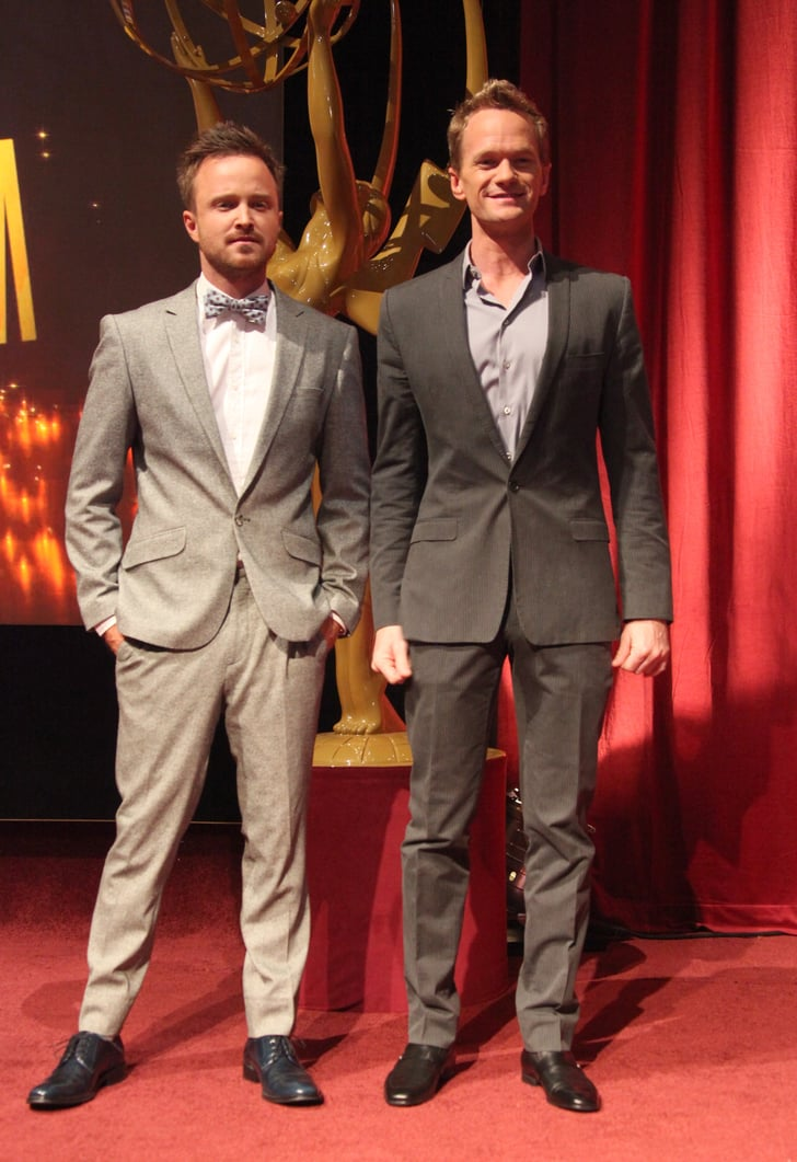 Aaron Paul and Neil Patrick Harris presented the 2013 Emmy Awards nominations today.
