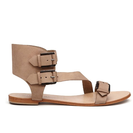 A simple but sensible sandal with thick straps will be your new bff. Pick a neutral hue (black, tan, nude) for optimal wear-with-everything appeal. Sandals, $129.95, Witchery