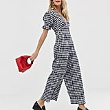 ASOS Design Gingham Jumpsuit