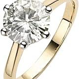 Moissanite 9 Carat Yellow Gold Carat Solitaire Ring