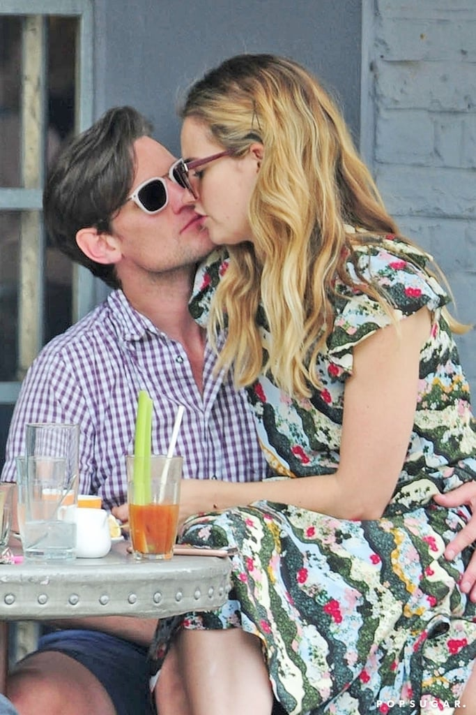 Lily James is having a busy month with the premiere of Mamma Mia! Here We Go Again, but she's still making time for a romantic lunch date with her boyfriend and The Crown actor, Matt Smith. The 29-year-old actress met up with Matt in London on July 23, and the two couldn't hide their sweet PDA.  After Lily attended a charity screening of Mamma Mia! and took pictures with fans, the couple cuddled up and traded kisses over drinks. Lily and Matt usually keep their fairy-tale romance under wraps, but they weren't shy about their love on this afternoon out together.       Related:                                                                                                           If You're Wondering If Lily James Is Really Singing in Mamma Mia! Here We Go Again, Read This