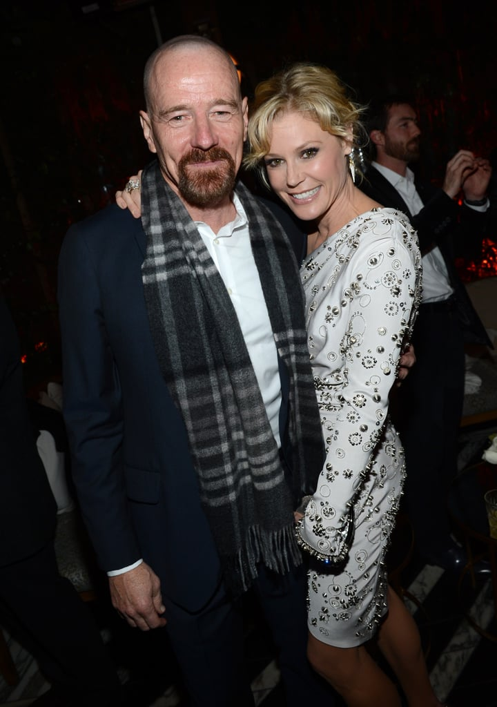 Bryan Cranston and Julie Bowen posed for photos at the party.