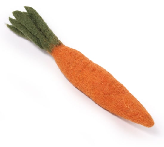 Carrot Boiled Wool Dog Toy ($5)