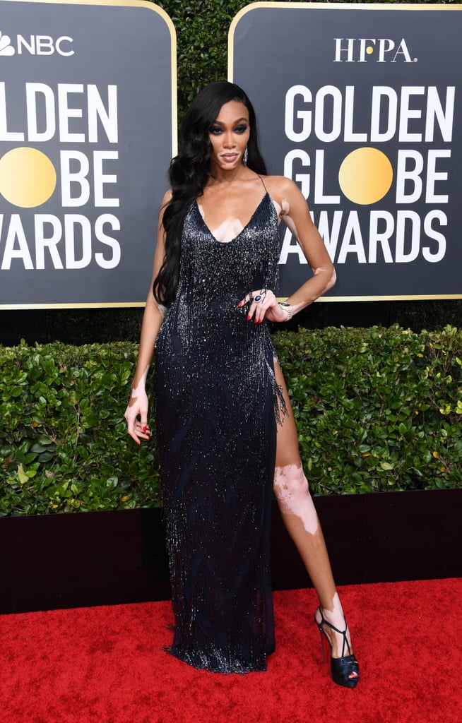 Winnie Harlow at the 2020 Golden Globes