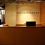 A clean, simple reception for Pixar Canada guests.   Images courtesy of Pixar