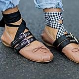 Tie-Up Ballet Flats