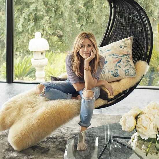 Jennifer Aniston Grlfrnd Jeans in Architectural Digest