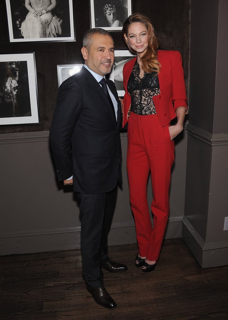 Analeigh Tipton and Elie Saab together at a private Elie Saab dinner in NYC.