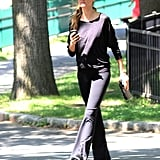 Gisele Bundchen went for a walk in Boston.