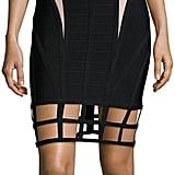 Herve Leger Two-Tone Cage Cutout Bandage Dress ($1,440)