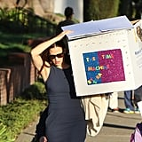 When Jennifer Garner Casually Carried Her Daughter's School Project Down the Street