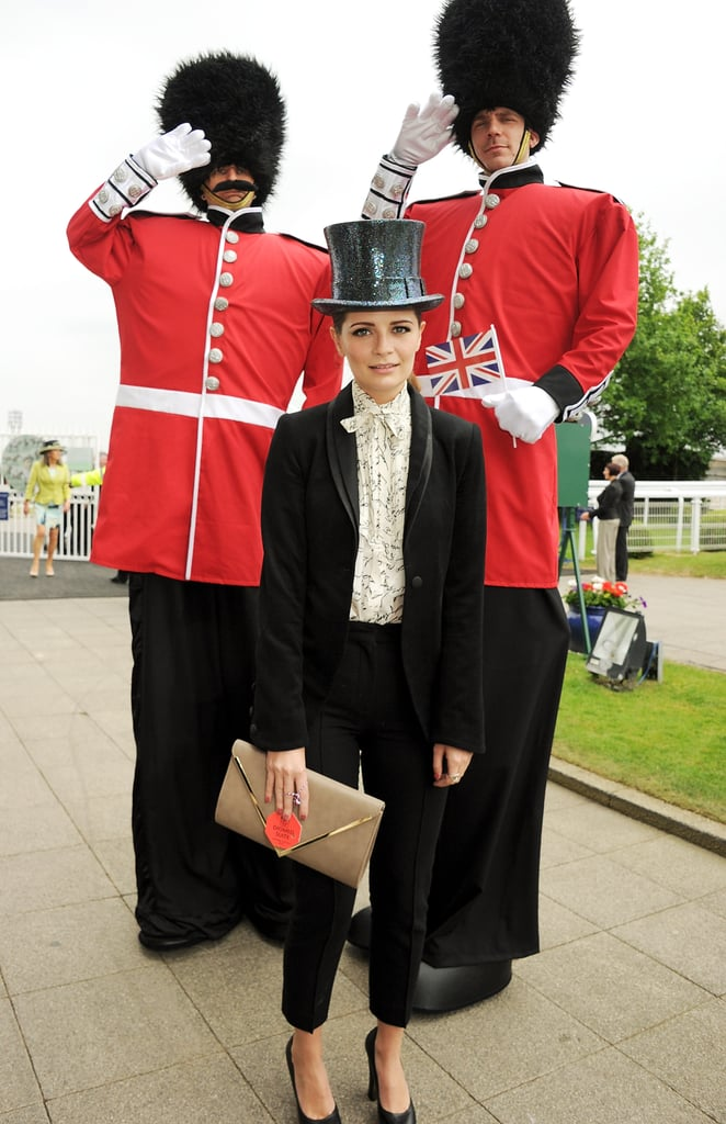 Mischa Barton posed at the Diamond Jubilee Derby.