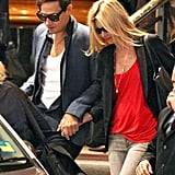 Kate Moss and Jamie Hince leave Sydney.