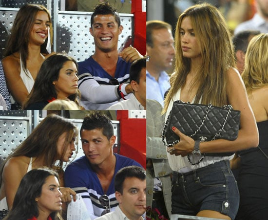 Pictures of Cristiano Ronaldo With Girlfriend Irina Shayk at Spain vs USA Basketball in Madrid Amid Sex Text Rhian Sugden Rumour