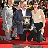 George Clooney at the Walk of Fame.