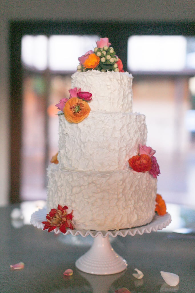At its core, this cake is pretty simple (three round tiers), but we love how this textured frosting design adds instant pizzazz.