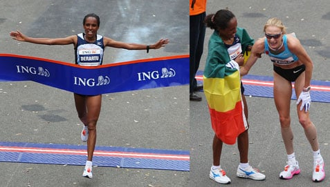 2009 New York Marathon Winners and Times
