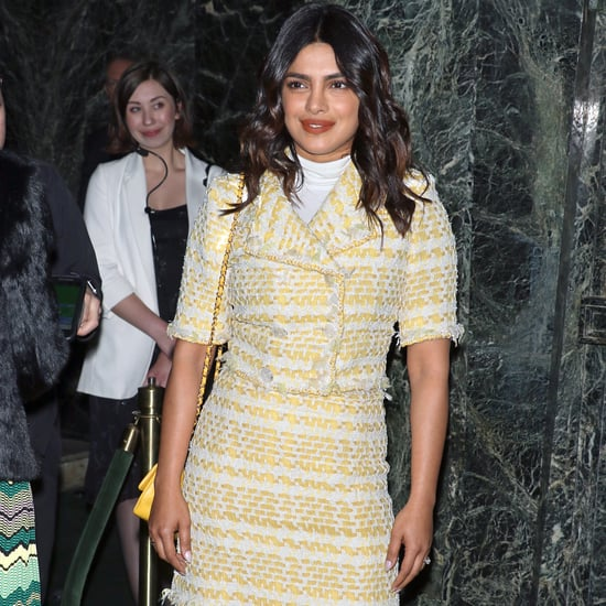Priyanka Chopra Yellow Chanel Suit and PVC Boots